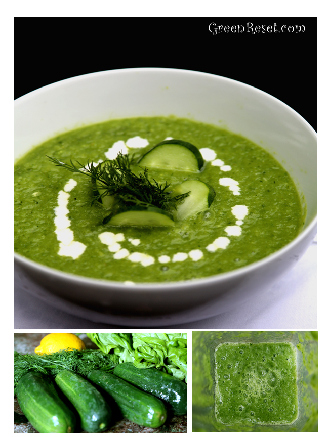 Live Avocado-Cucumber Soup