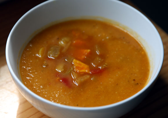 Sweet Potato Eggplant Lentil Soup