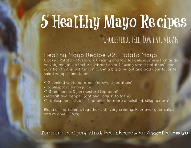 healthy egg-free, cholesterol free mayo (vegan)