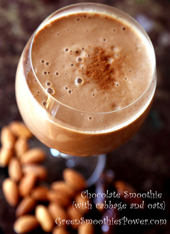 Yummy Chocolate Cabbage Smoothie