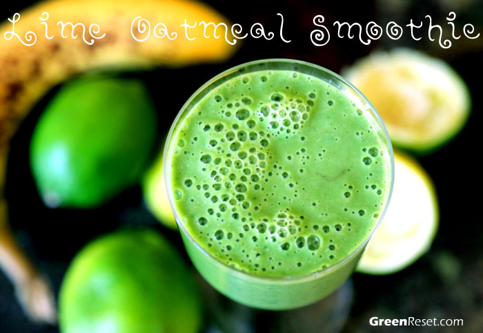 Lime-Oats Green Smoothie Recipe