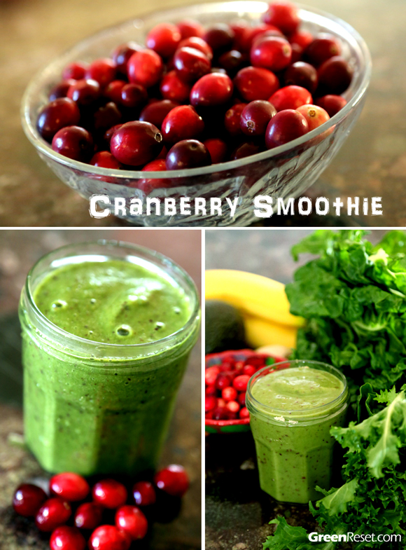 Green Smoothie With Cranberries