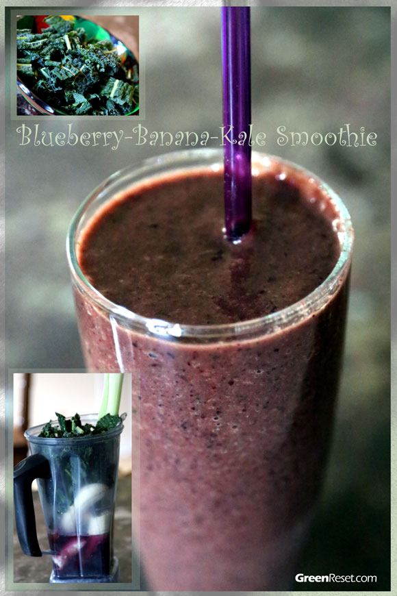 Blueberry Kale Smoothie (Quick, Easy &Delicious)