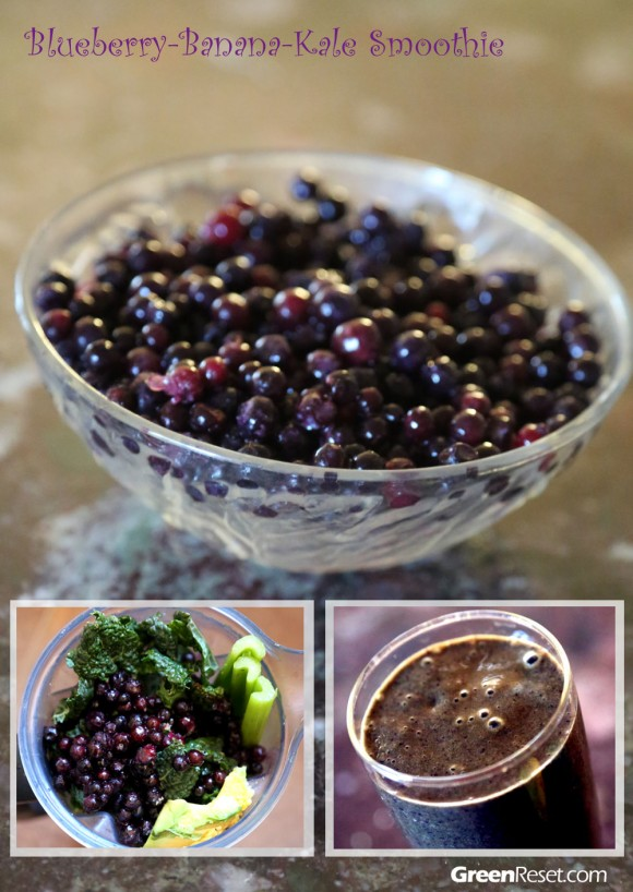 Blueberry-Banana-Kale Smoothie