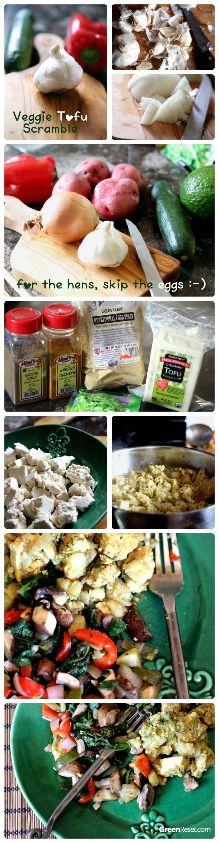 Making tofu scramble