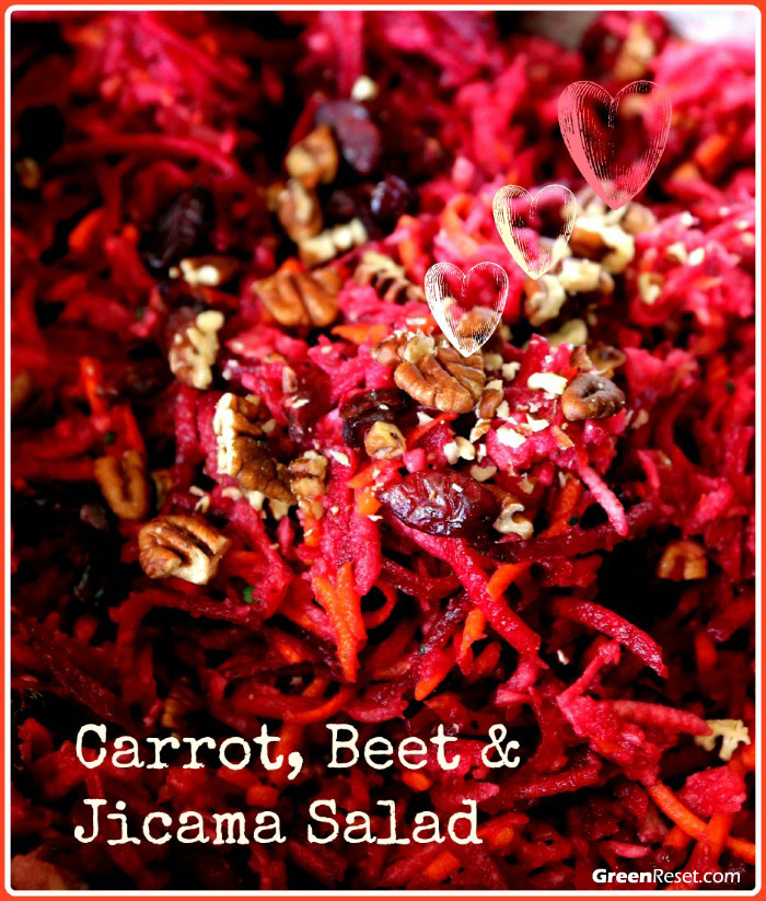 carrot-beet-jicama salad
